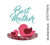 happy mothers day design  | Shutterstock .eps vector #375779374
