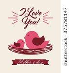 happy mothers day design  | Shutterstock .eps vector #375781147