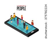 isometric people design  | Shutterstock .eps vector #375782224