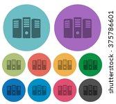 color server hosting flat icon...
