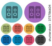 color speakers flat icon set on ...