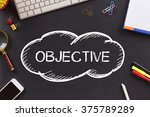 Small photo of OBJECTIVE written on Chalkboard