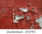 Old Red Paint On A Wall