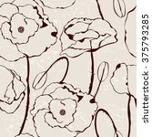 floral vintage illustration.... | Shutterstock .eps vector #375793285