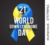 world down syndrome day. | Shutterstock .eps vector #375798961