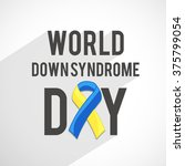 world down syndrome day. | Shutterstock .eps vector #375799054