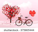 valentine's day background with ... | Shutterstock . vector #375805444