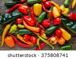 mexican hot chili peppers... | Shutterstock . vector #375808741