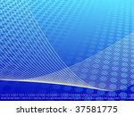 blue  aqua and yellow binary... | Shutterstock .eps vector #37581775