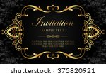 invitation card   black and... | Shutterstock .eps vector #375820921