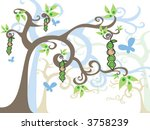 magic tree baby boy in a pod ... | Shutterstock .eps vector #3758239