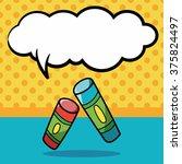 crayon doodle  speech bubble | Shutterstock .eps vector #375824497