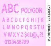 alphabet of polygons purple...   Shutterstock .eps vector #375826627