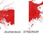 peru flag | Shutterstock . vector #375829639