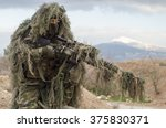 Small photo of Sniper ghillie stand and target recognise