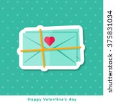 happy valentine day icon in... | Shutterstock .eps vector #375831034