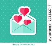 happy valentine day icon in... | Shutterstock .eps vector #375832747