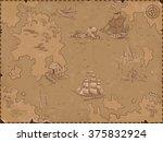 sea  map | Shutterstock .eps vector #375832924