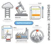 improvement design concept ... | Shutterstock .eps vector #375838435