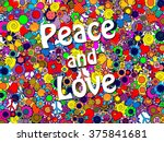 peace and love | Shutterstock . vector #375841681