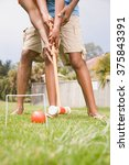 two people playing croquet | Shutterstock . vector #375843391