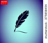 feather vector icon. | Shutterstock .eps vector #375858454