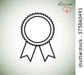 line icon  medal | Shutterstock .eps vector #375860491