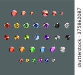 rhinestones set | Shutterstock .eps vector #375862087