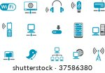 vector icons pack   blue series ... | Shutterstock .eps vector #37586380
