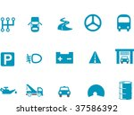 vector icons pack   blue series ... | Shutterstock .eps vector #37586392