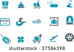vector icons pack   blue series ... | Shutterstock .eps vector #37586398