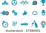 vector icons pack   blue series ... | Shutterstock .eps vector #37586401