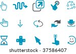 Vector icons pack - Blue Series, pointer collection - stock vector