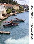 small wooden boats in bosphorus ...   Shutterstock . vector #375876934