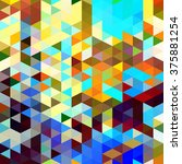 colorful triangles mosaic in a... | Shutterstock . vector #375881254