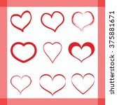 set of vector heart shapes | Shutterstock .eps vector #375881671