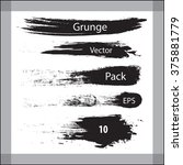 grunge design brush elements.... | Shutterstock .eps vector #375881779