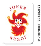 playing cards with the joker... | Shutterstock .eps vector #375882511