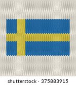 knitted sweden flag | Shutterstock .eps vector #375883915