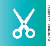vector scissors line icon    Shutterstock .eps vector #375885997