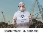 technician in coverall in... | Shutterstock . vector #375886501