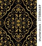 gold  floral ornament. rich... | Shutterstock .eps vector #375886669