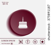 birthday cake web icon | Shutterstock .eps vector #375891187