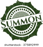 summon rubber stamp with grunge ... | Shutterstock .eps vector #375892999