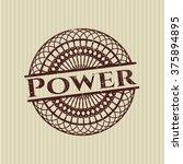 power rubber seal | Shutterstock .eps vector #375894895