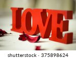 only love  sign  statue  decor | Shutterstock . vector #375898624