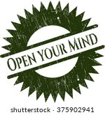 open your mind grunge seal | Shutterstock .eps vector #375902941