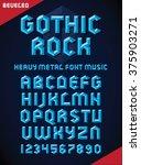 vector illustration of gothic... | Shutterstock .eps vector #375903271