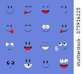 emoticon faces set.set of... | Shutterstock .eps vector #375916225