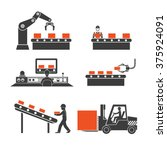 icons production lines of the... | Shutterstock .eps vector #375924091